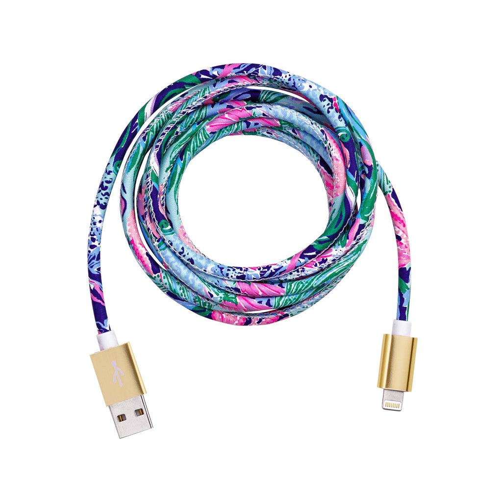 Lilly Pulitzer Charging Cord, Bringing Mermaid Back