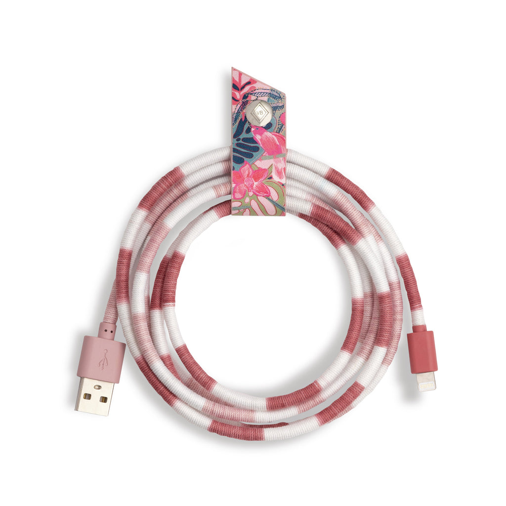 Charging Cord, Rainforest Canopy Pink