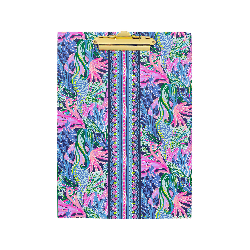 Lilly Pulitzer Clipboard Folio, Bringing Mermaid Back