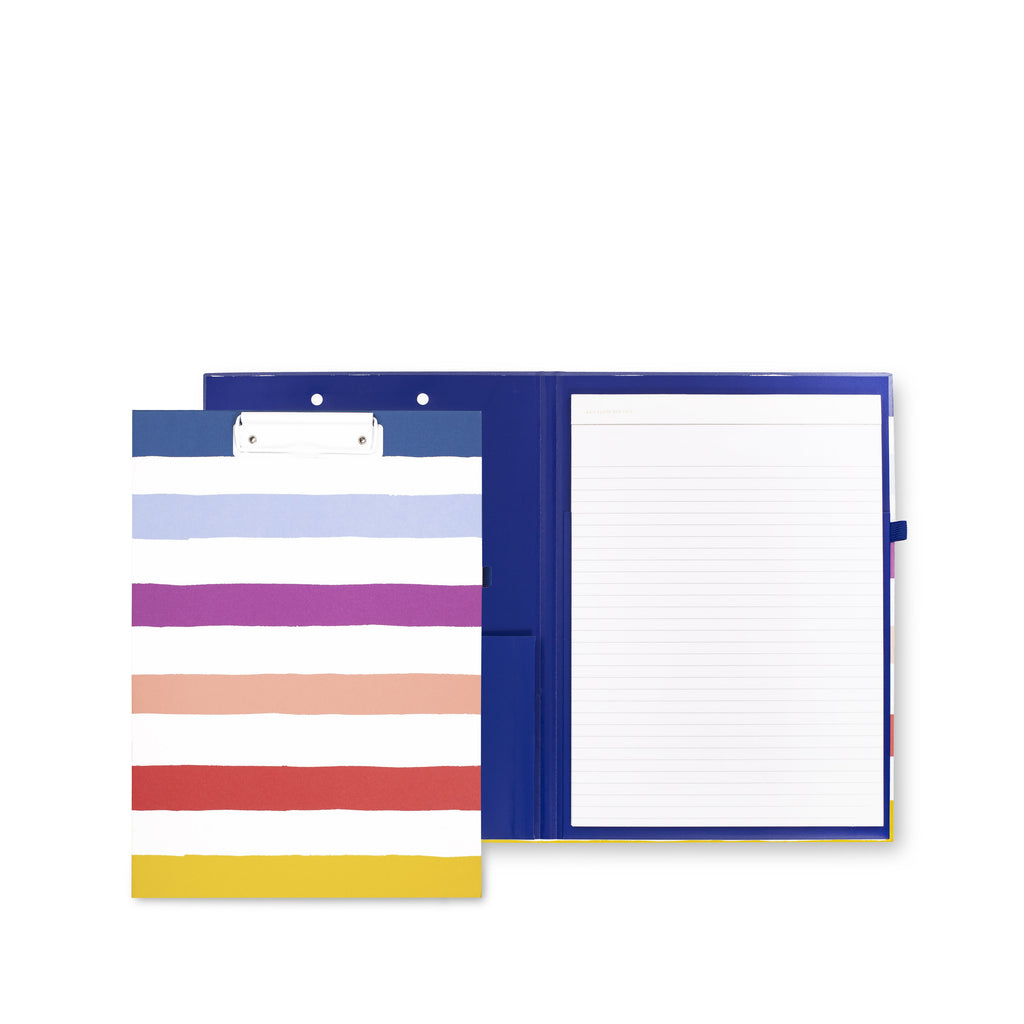 Clipboard Folio, Candy Stripe
