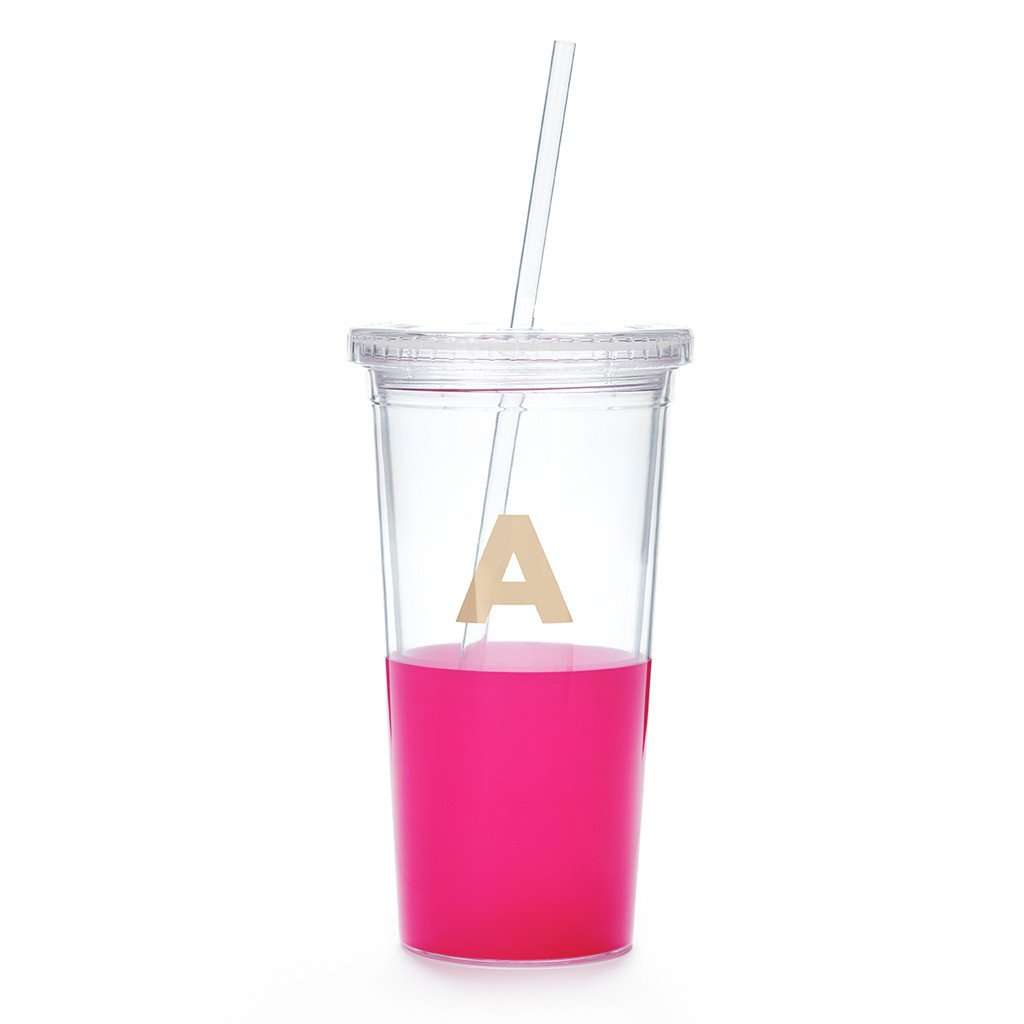 kate spade new york tumbler with straw - initial collection, a