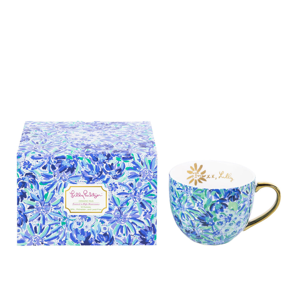 Lilly Pulitzer Ceramic Mug, High Manetenance