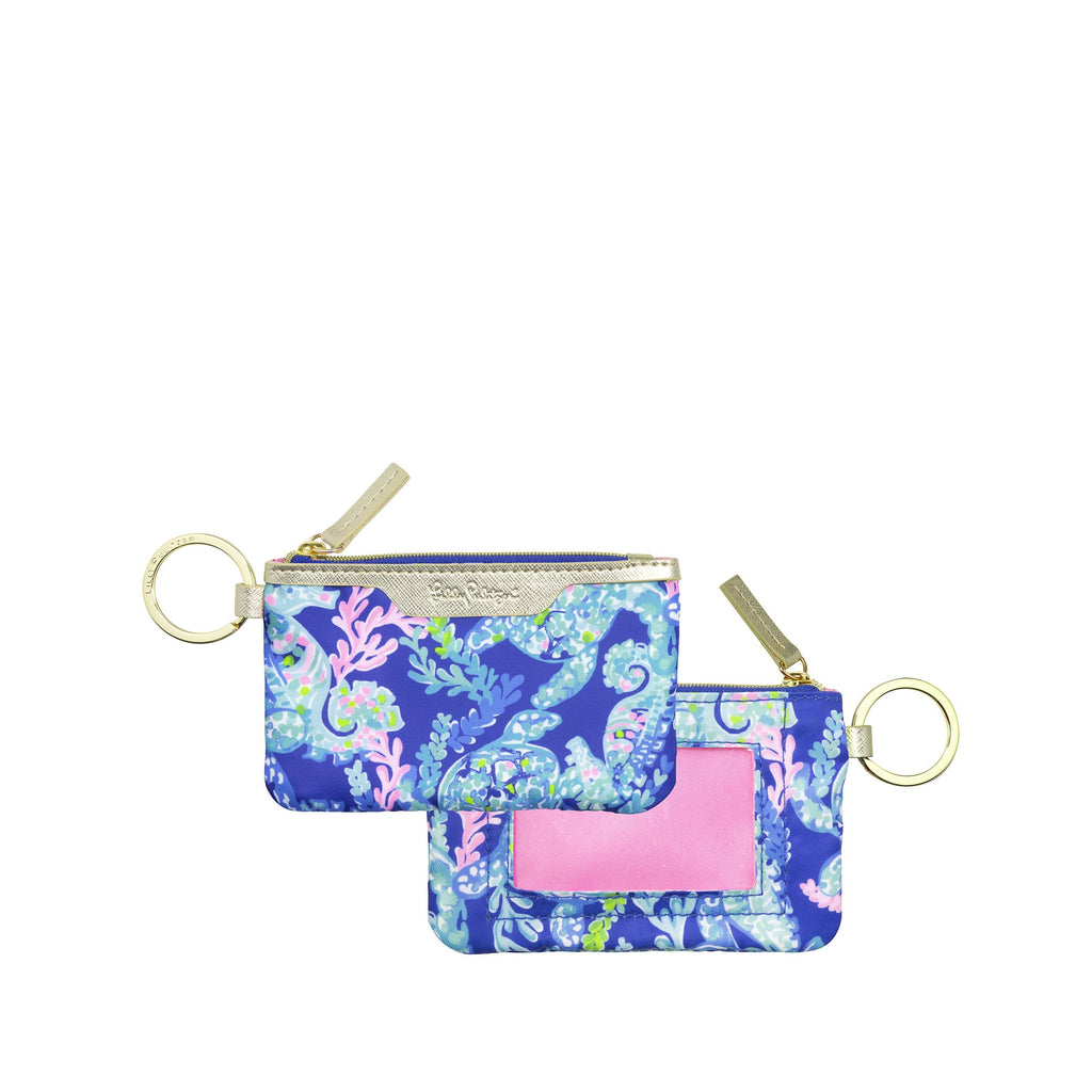 Lilly Pulitzer ID Case, Turtle Villa