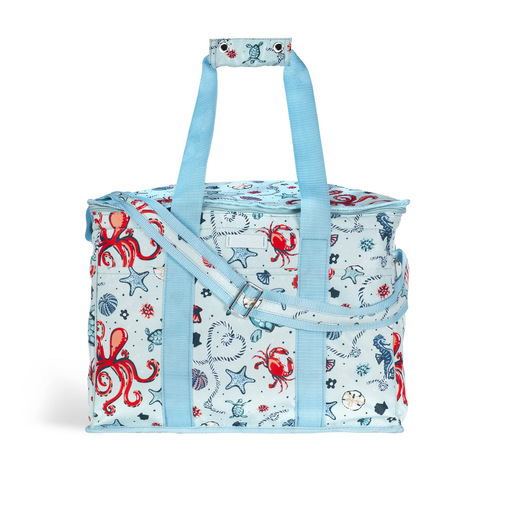 vera bradley insulated cooler, sea life