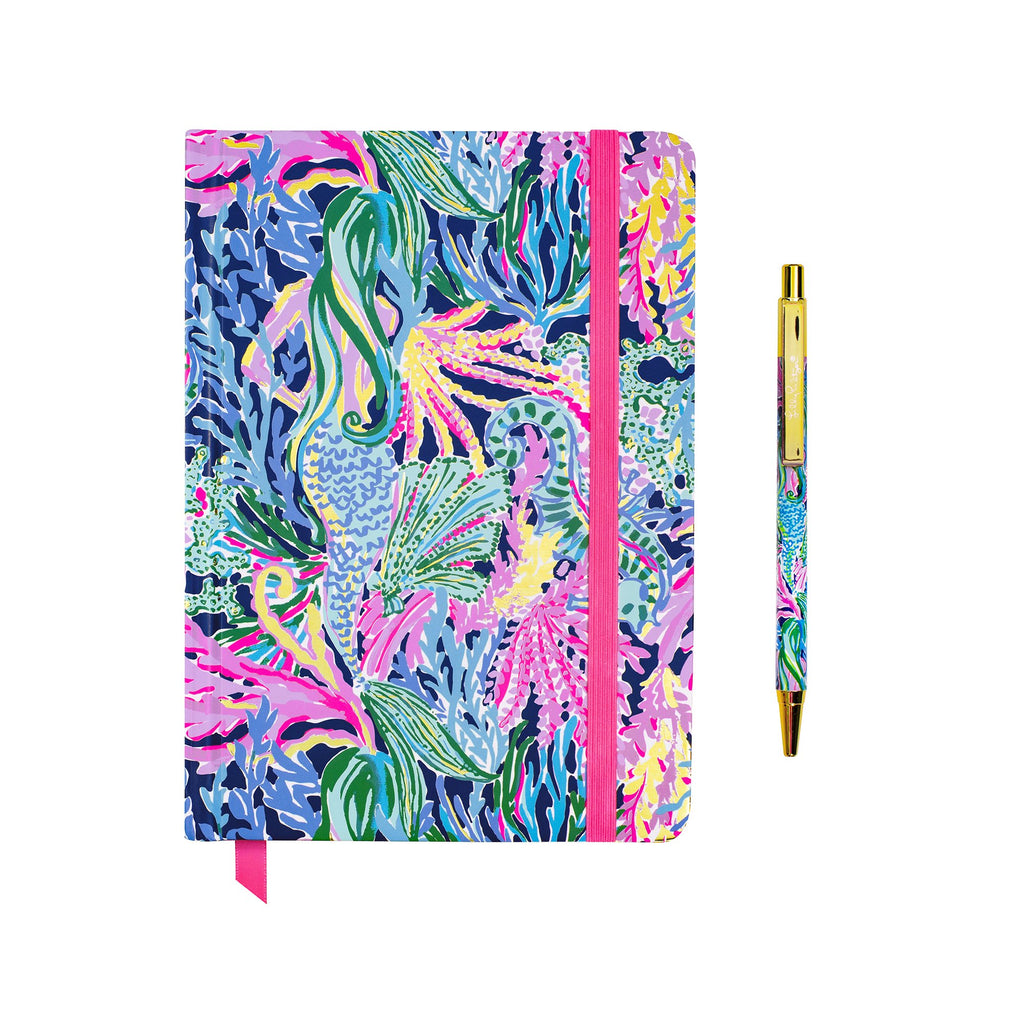 Lilly Pulitzer Journal with Pen, Bringing Mermaid Back