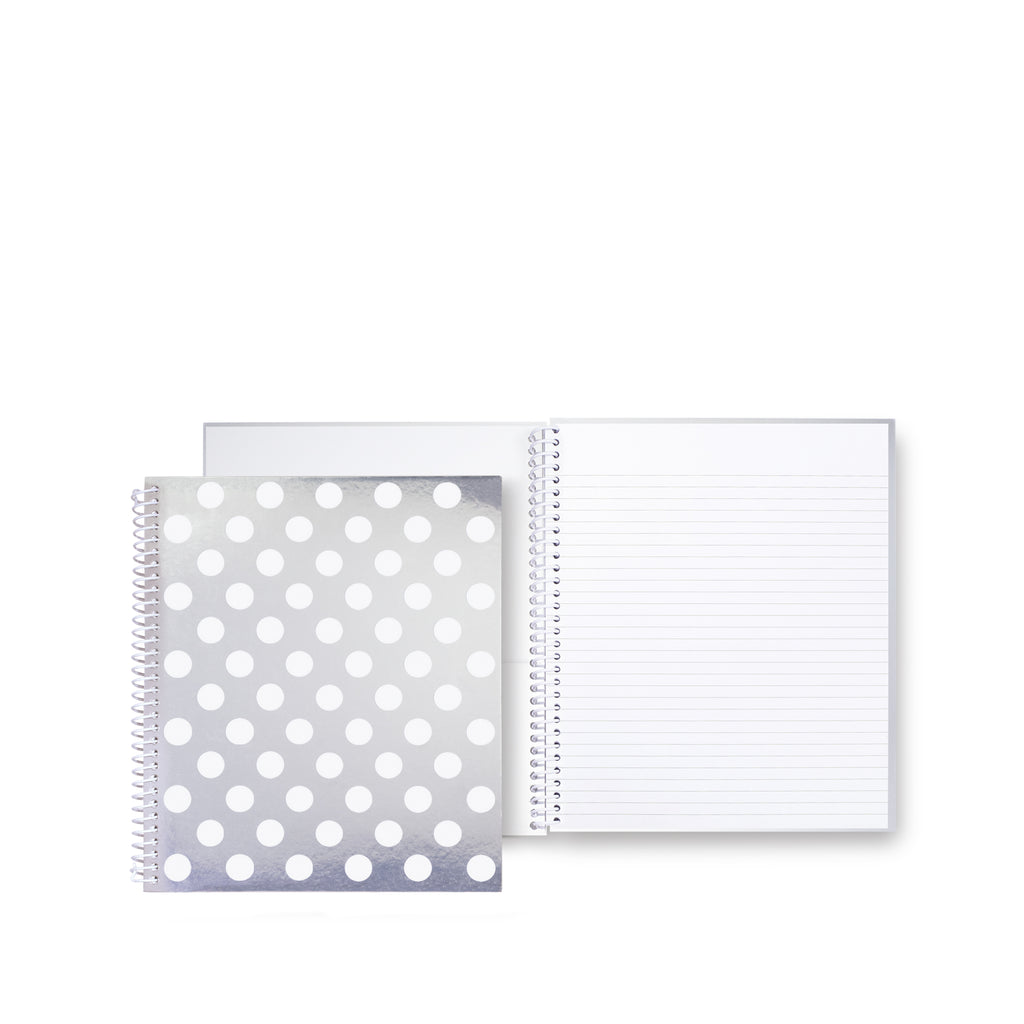 kate spade new york large spiral notebook, white dot