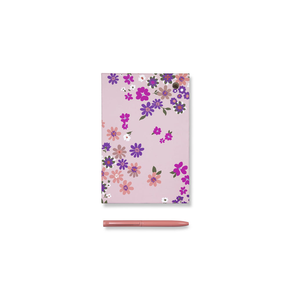 kate spade new york loose note holder with pen, pacific petals