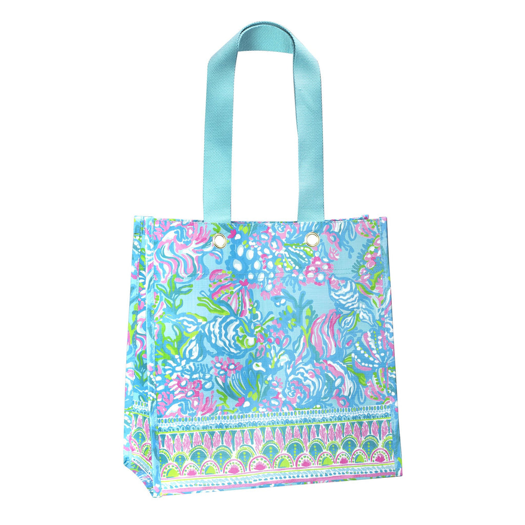 Lilly Pullitzer Market Shopper, Aqua La Vista