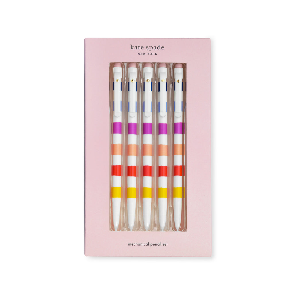 Kate Spade New York Mechanical Pencil Set, Candy Stripe