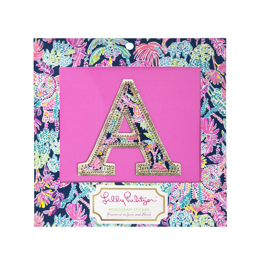 Lilly Pulitzer Monogram Sticker, A