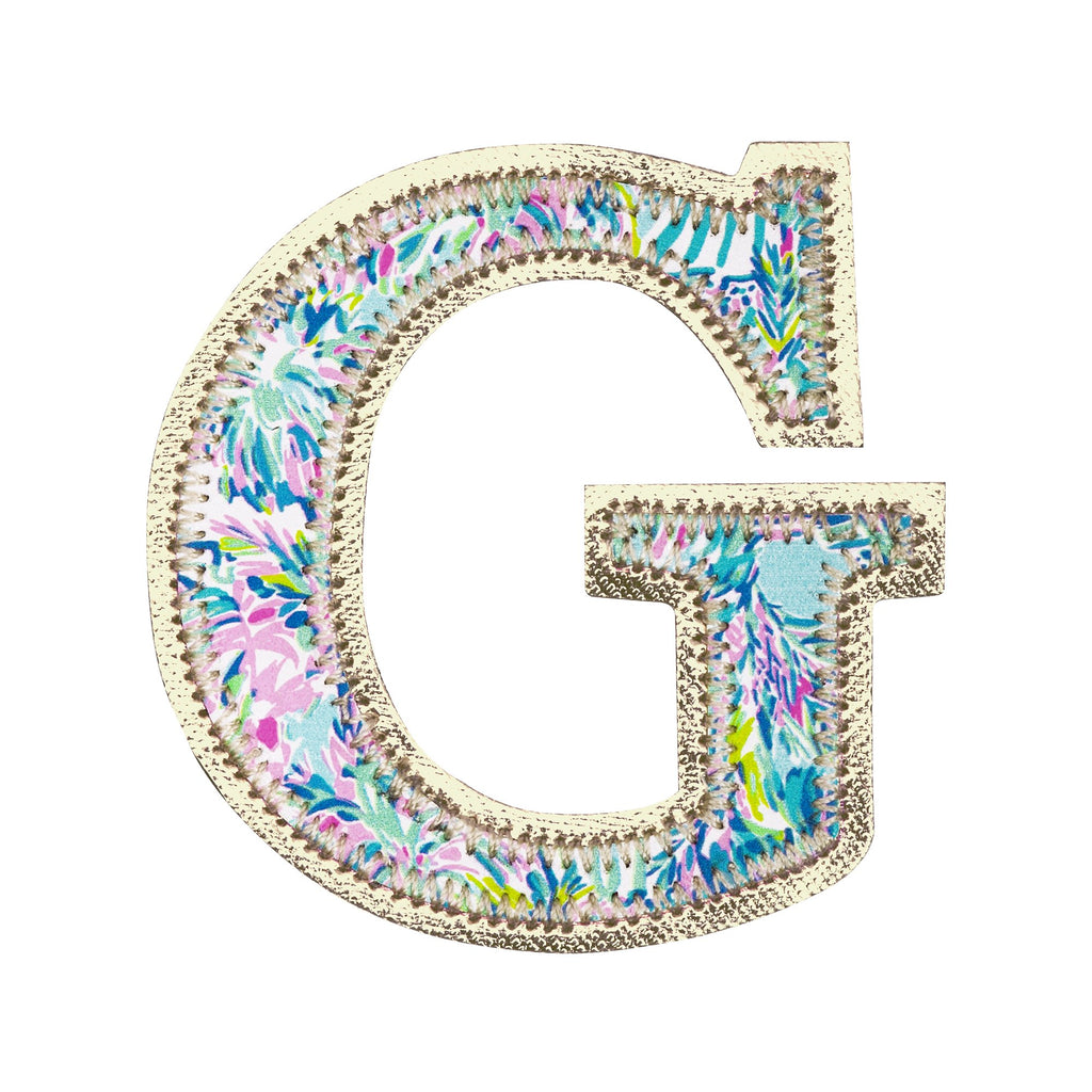 Lilly Pulitzer Monogram Sticker, G