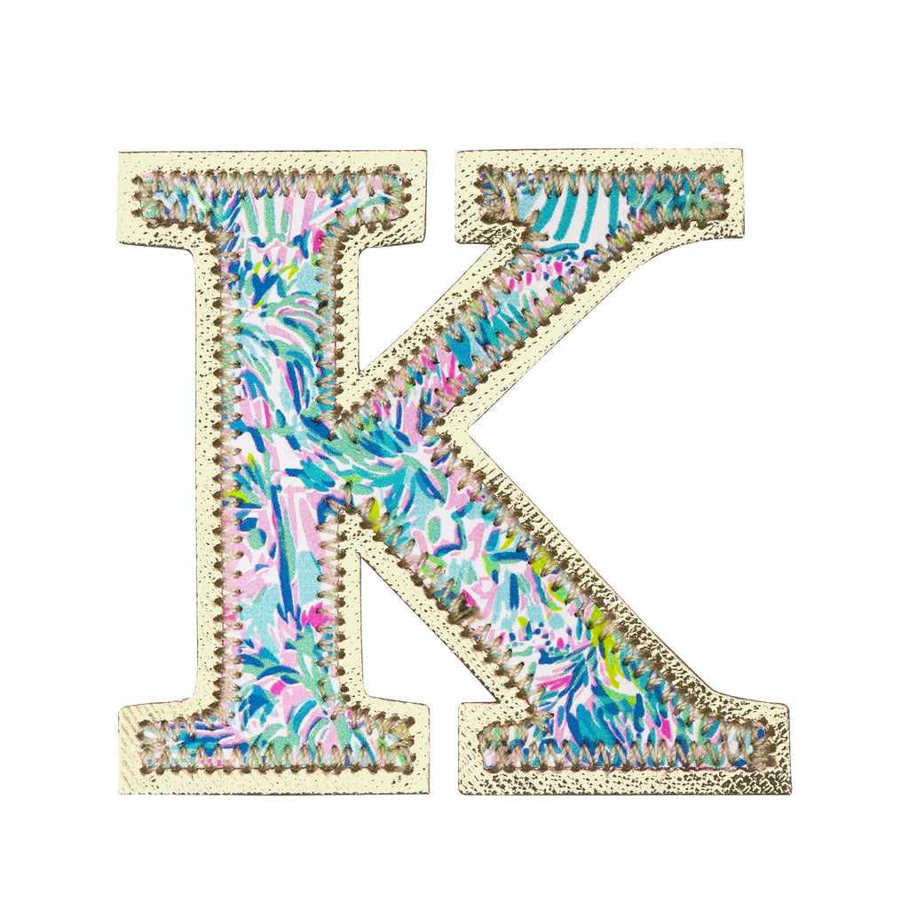 Lilly Pulitzer Monogram Sticker, K