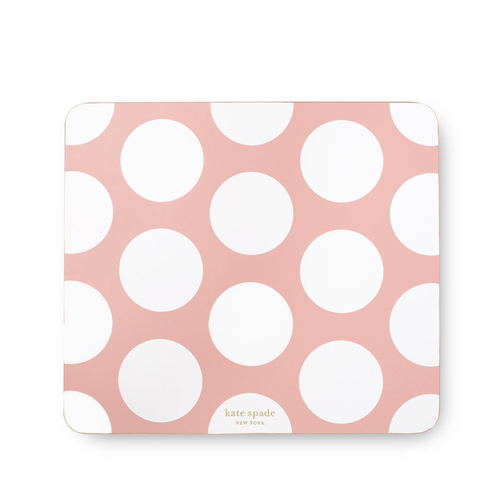 Mouse Pad, Peach Jumbo Dot