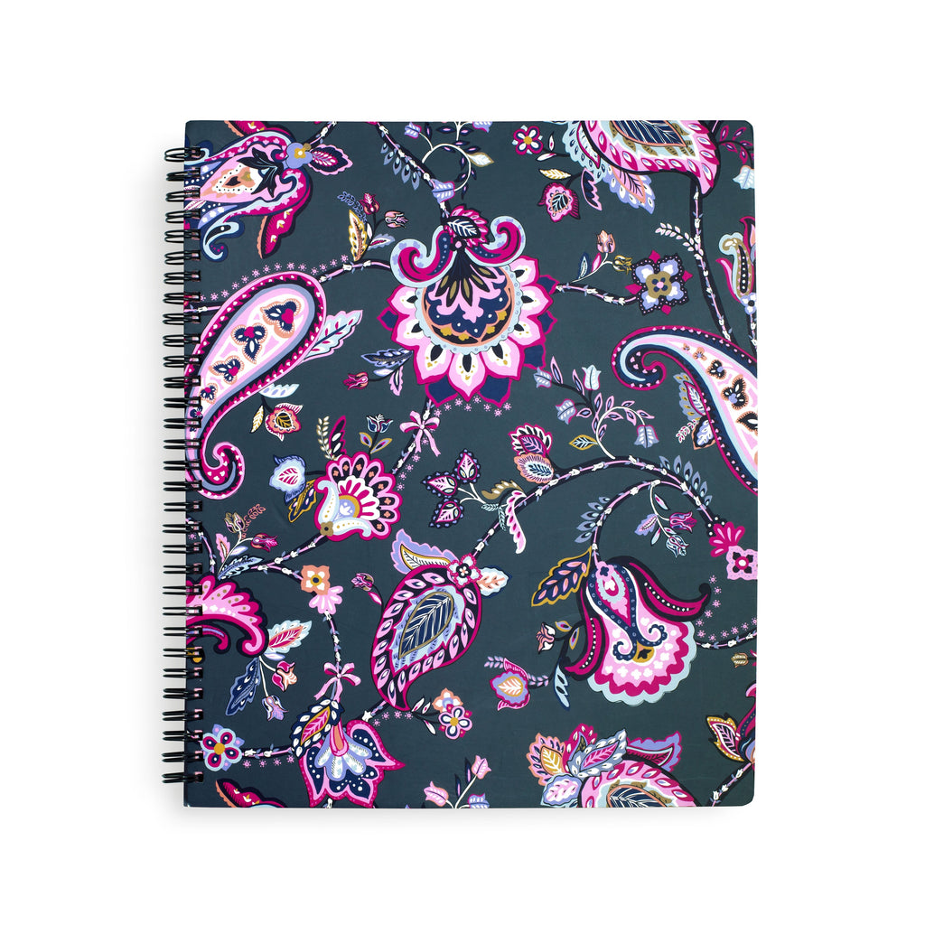 Vera Bradley Notebook with Pocket, Felicity Paisley
