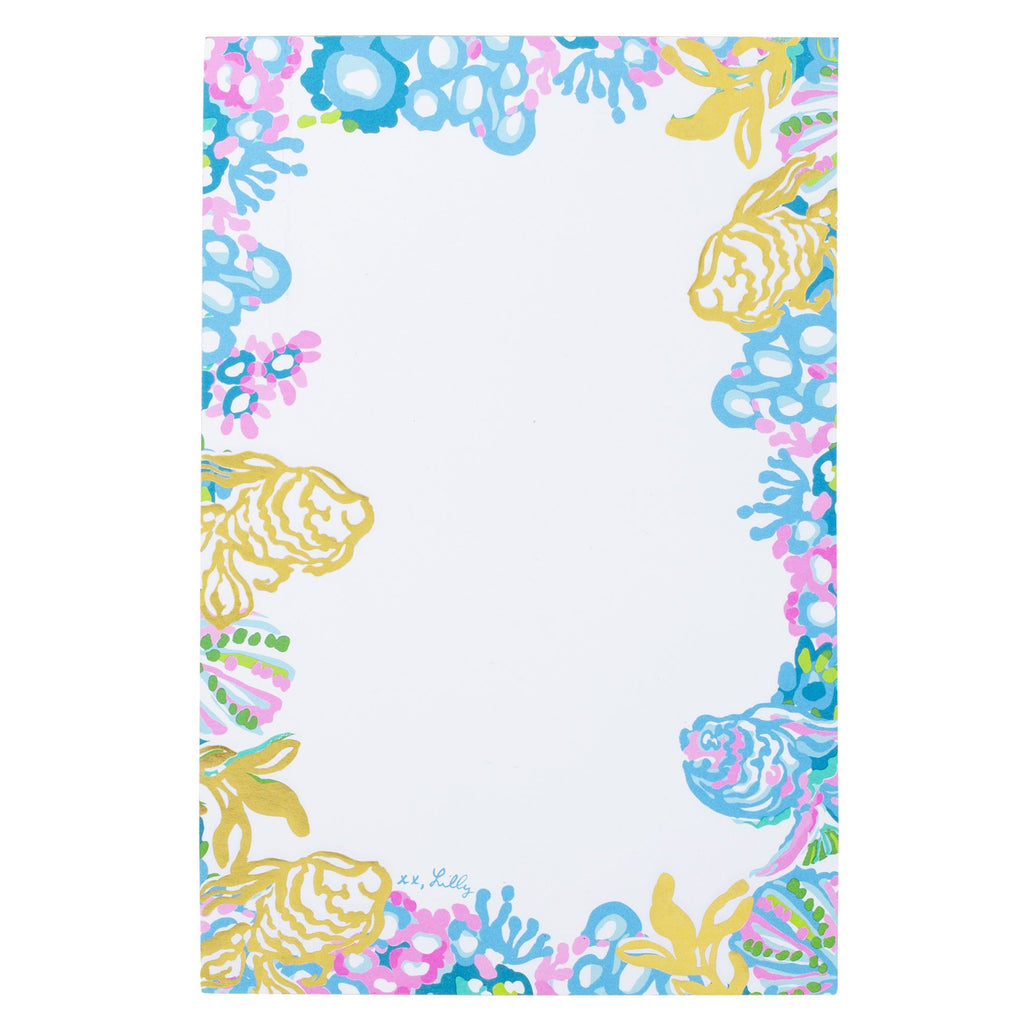 Lilly Pullitzer Notepad, Aqua La Vista