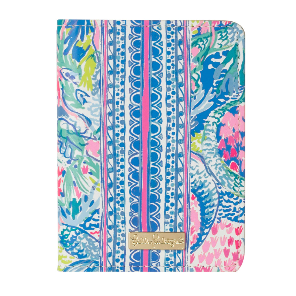 Lilly Pulitzer Passport Cover, Mermaids Cove