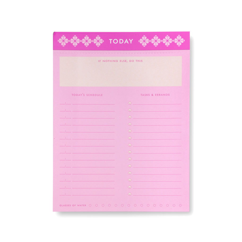 kate spade new york daily to-do listpad, neon