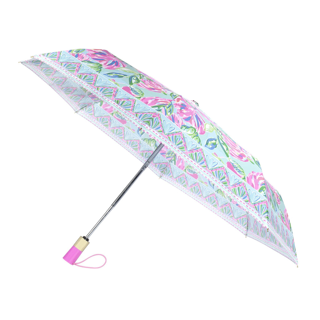 Lilly Pulitzer Travel Umbrella, Totally Blossom