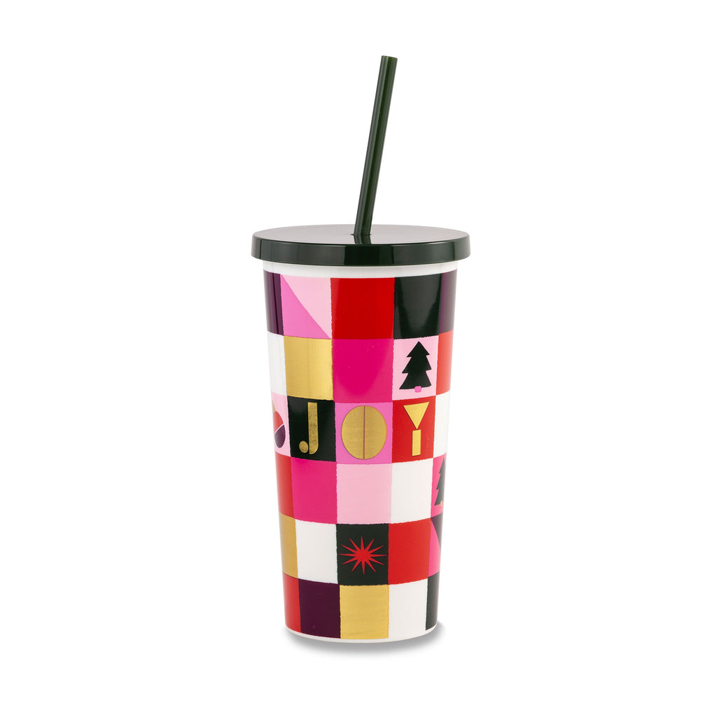 Kate Spade New York Tumbler With Straw, Joy