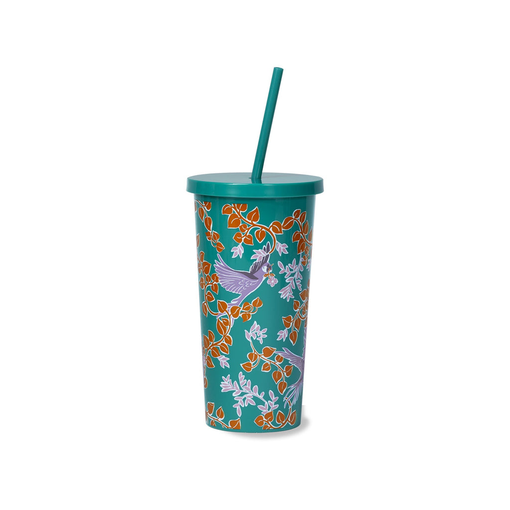 kate spade new york tumbler with straw, bird party