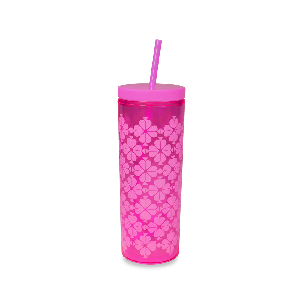 kate spade new york tumbler with straw, neon