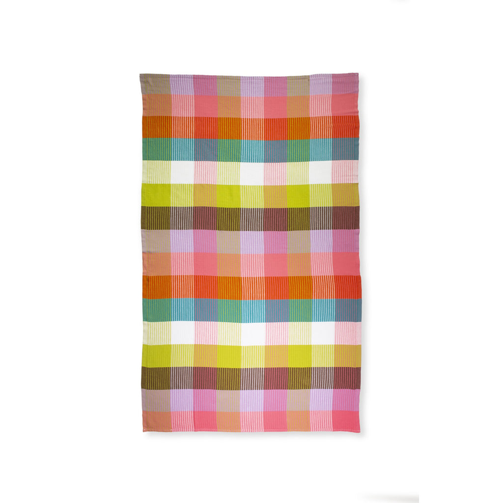 kate spade new york-spade turkish towel, rainbow plaid
