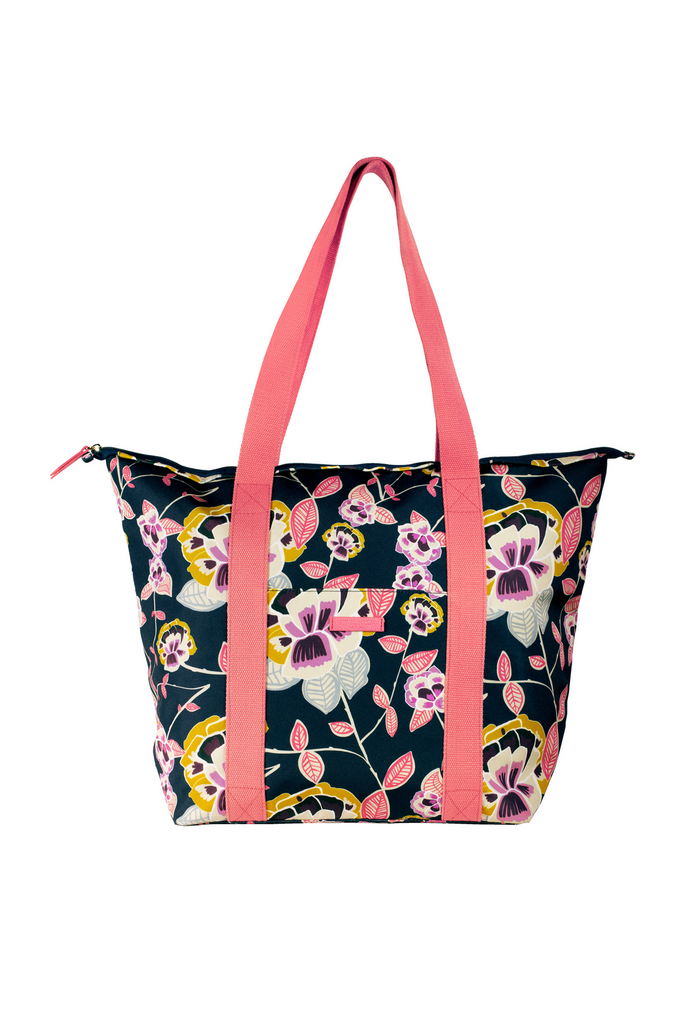Cooler Bag, Navy Floral