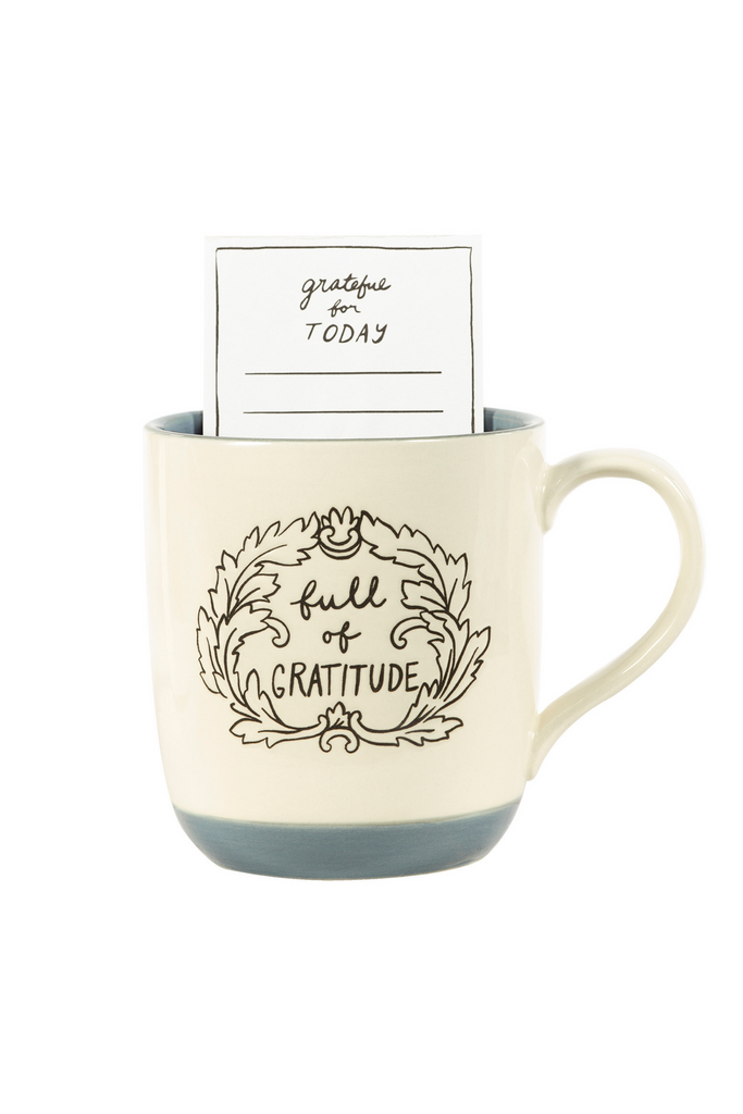 Ceramic Mug Gift Set, Full Of Gratitude (Stone) (MH)