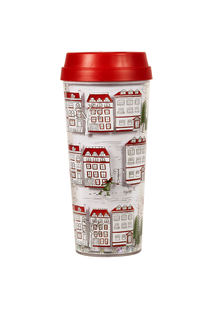 Thermal Mug, Holiday Toile (MH)