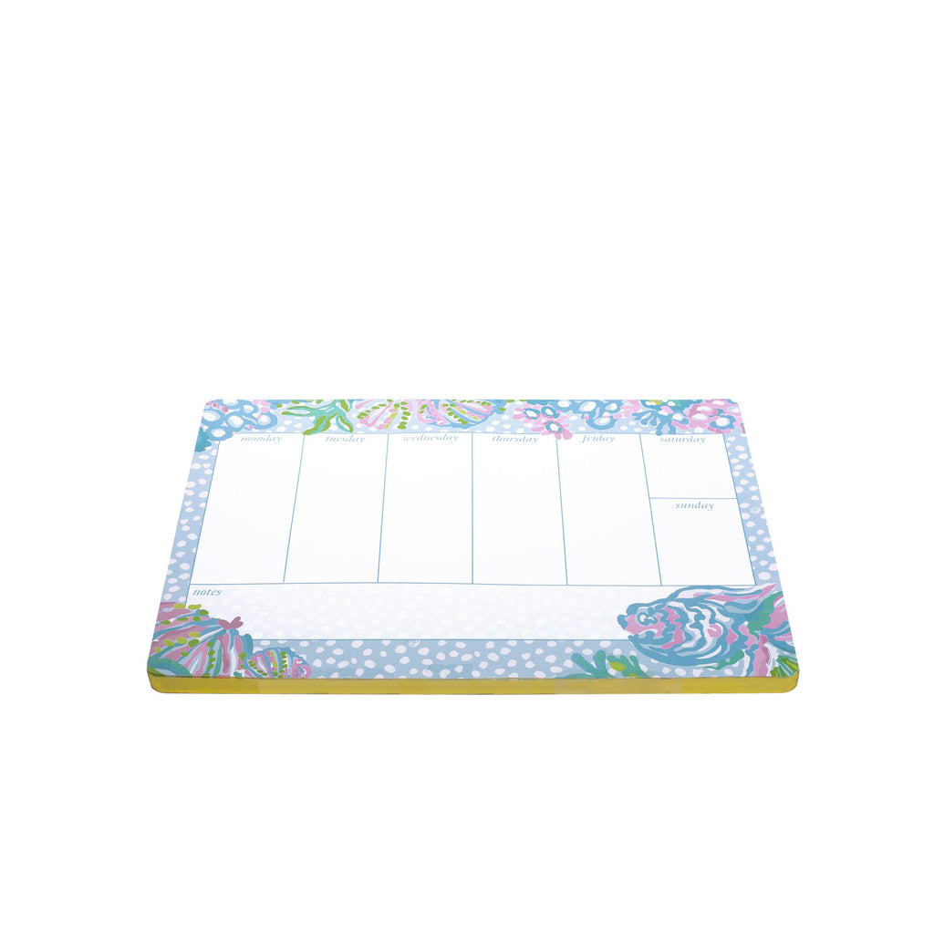 Lilly Pullitzer Weekly Desk Pad, Aqua La Vista