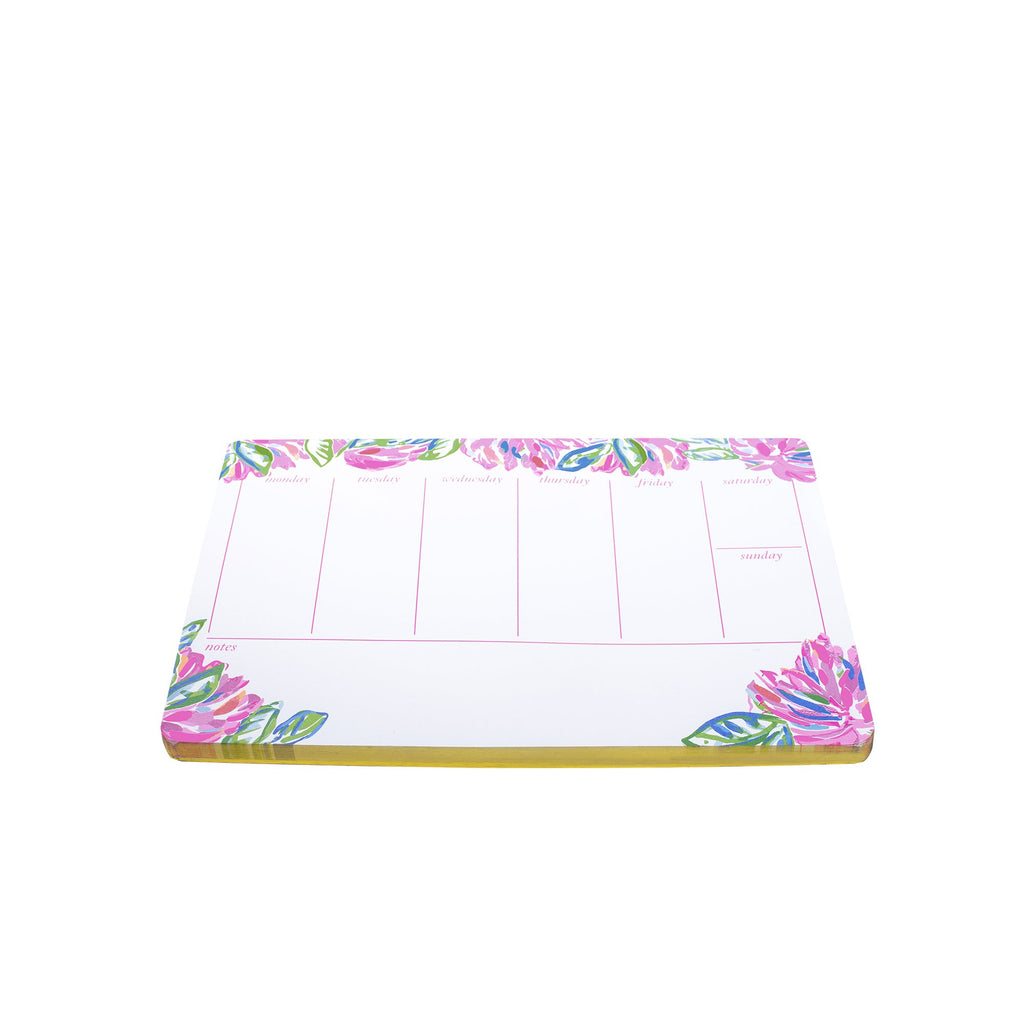Lilly Pulitzer Weekly Desk Pad, Totally Blossom