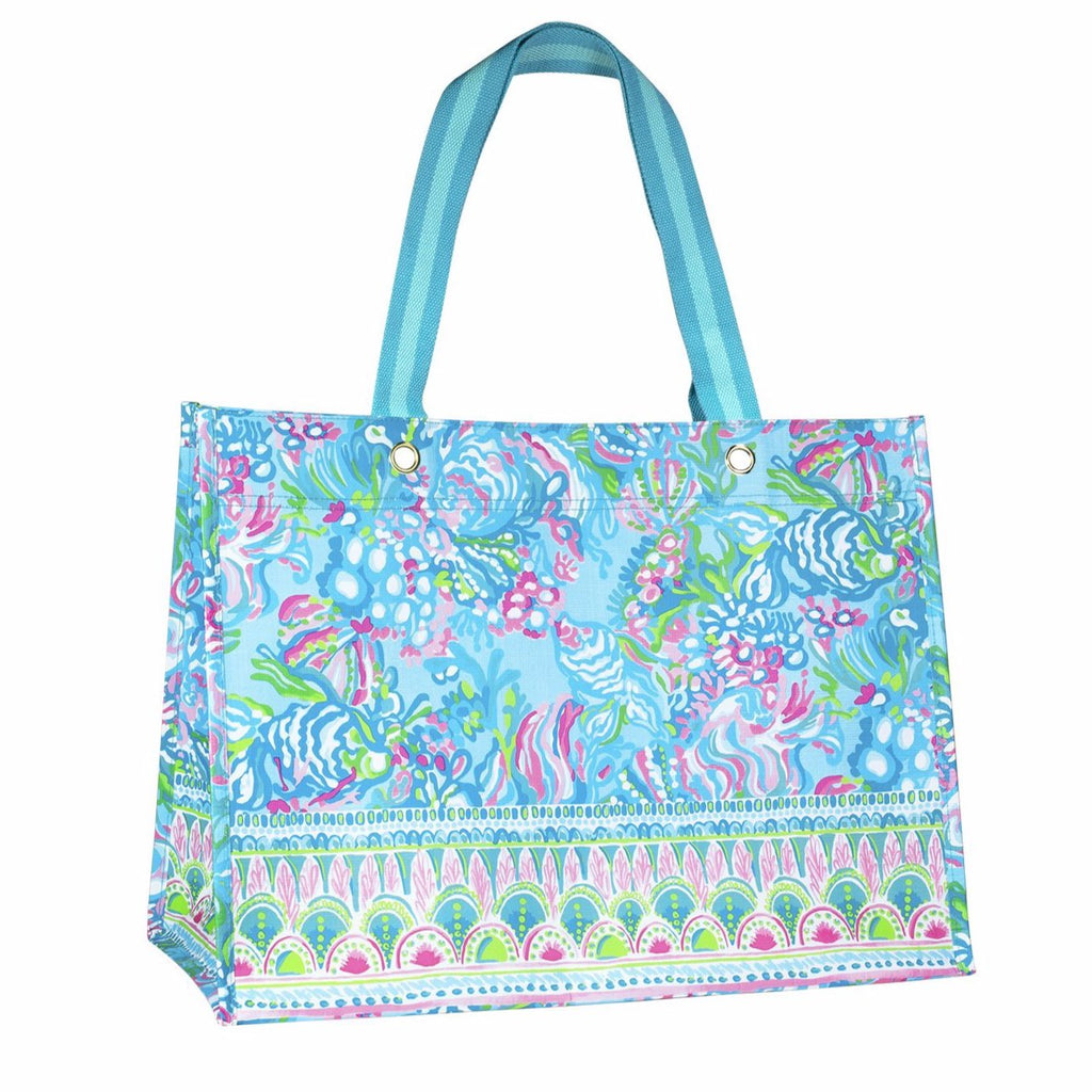 Lilly Pullitzer XL Market Shopper, Aqua La Vista