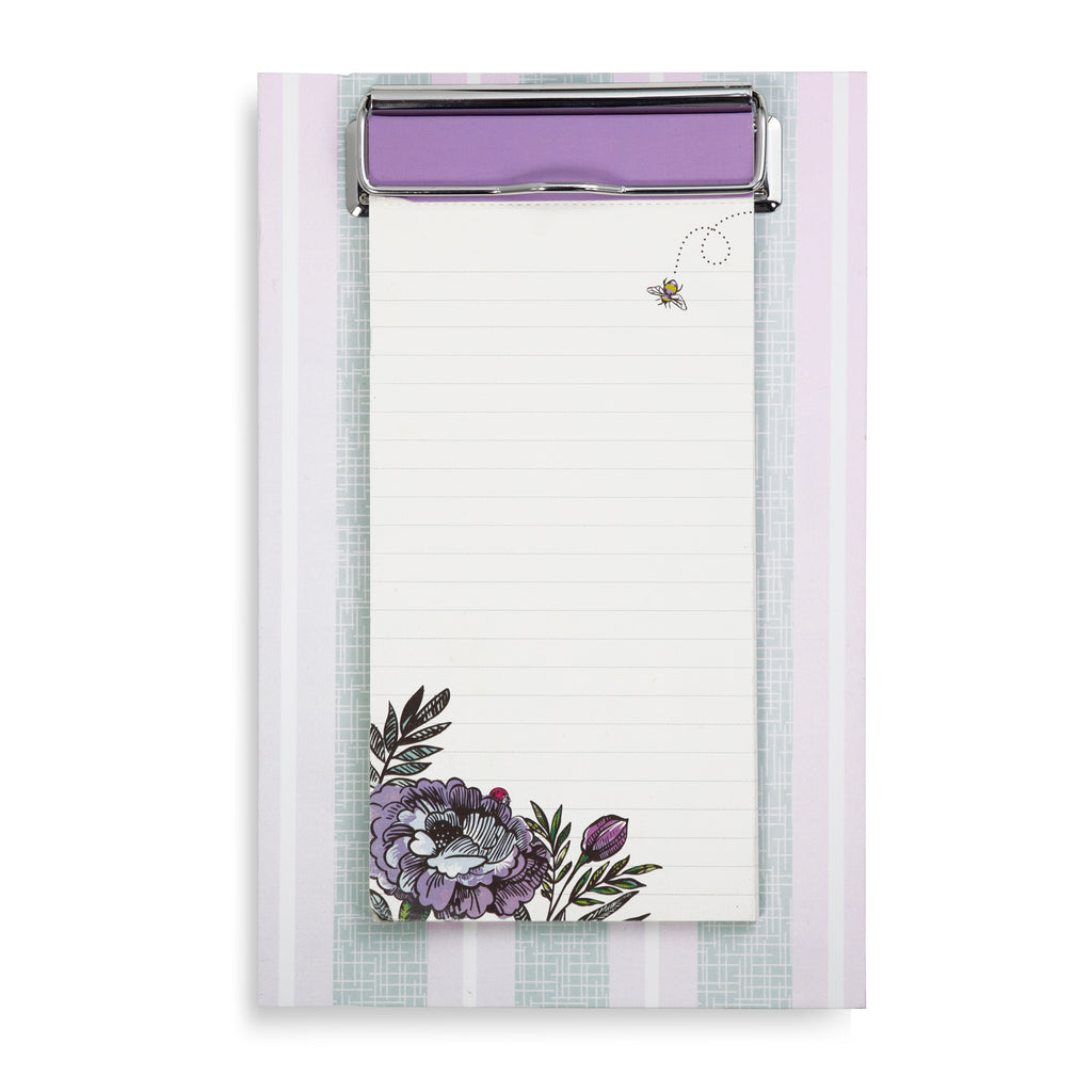 Vera Bradley Small Clip Notes - Lavender Meadow