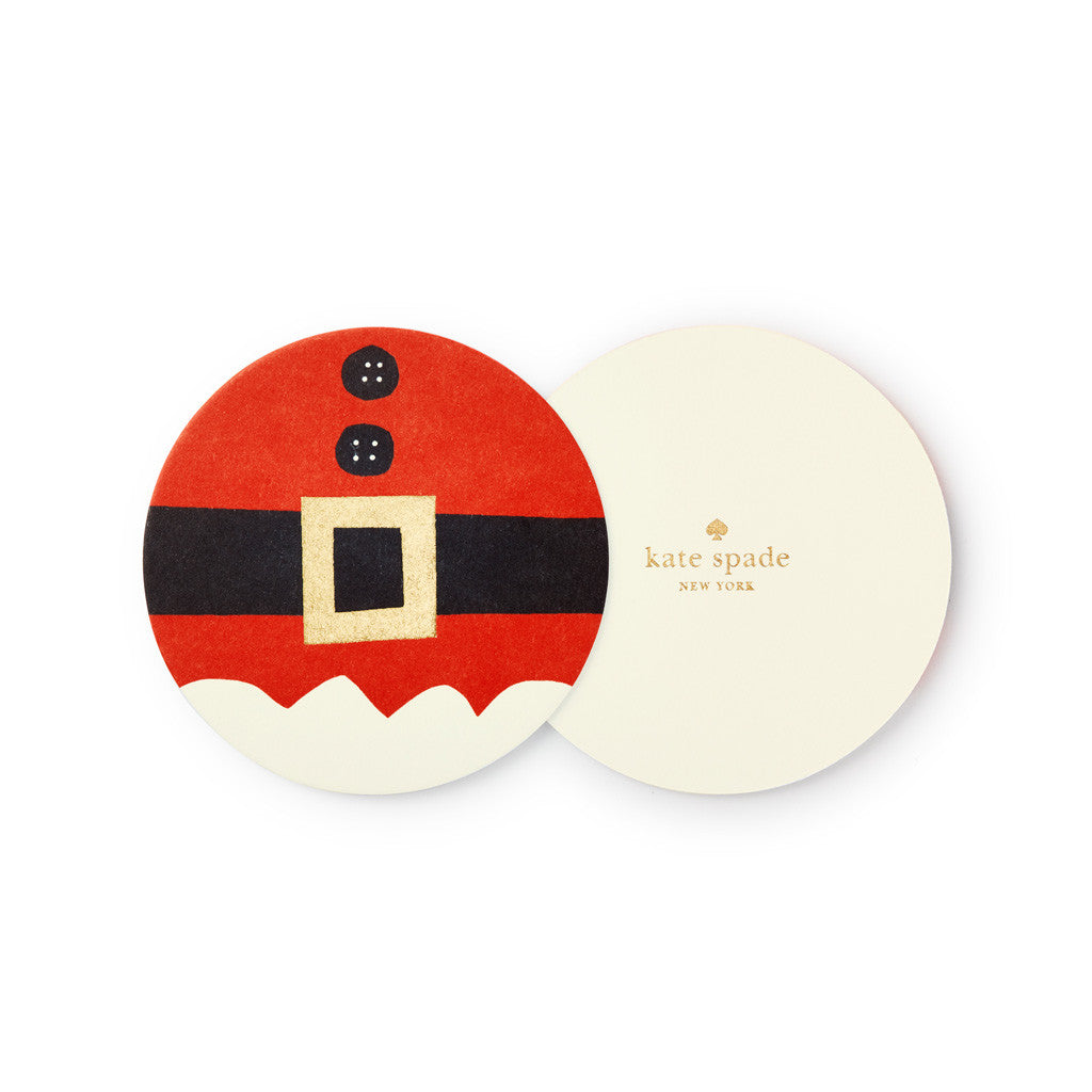 kate spade new york Holiday Paper Coasters - Santa Suit