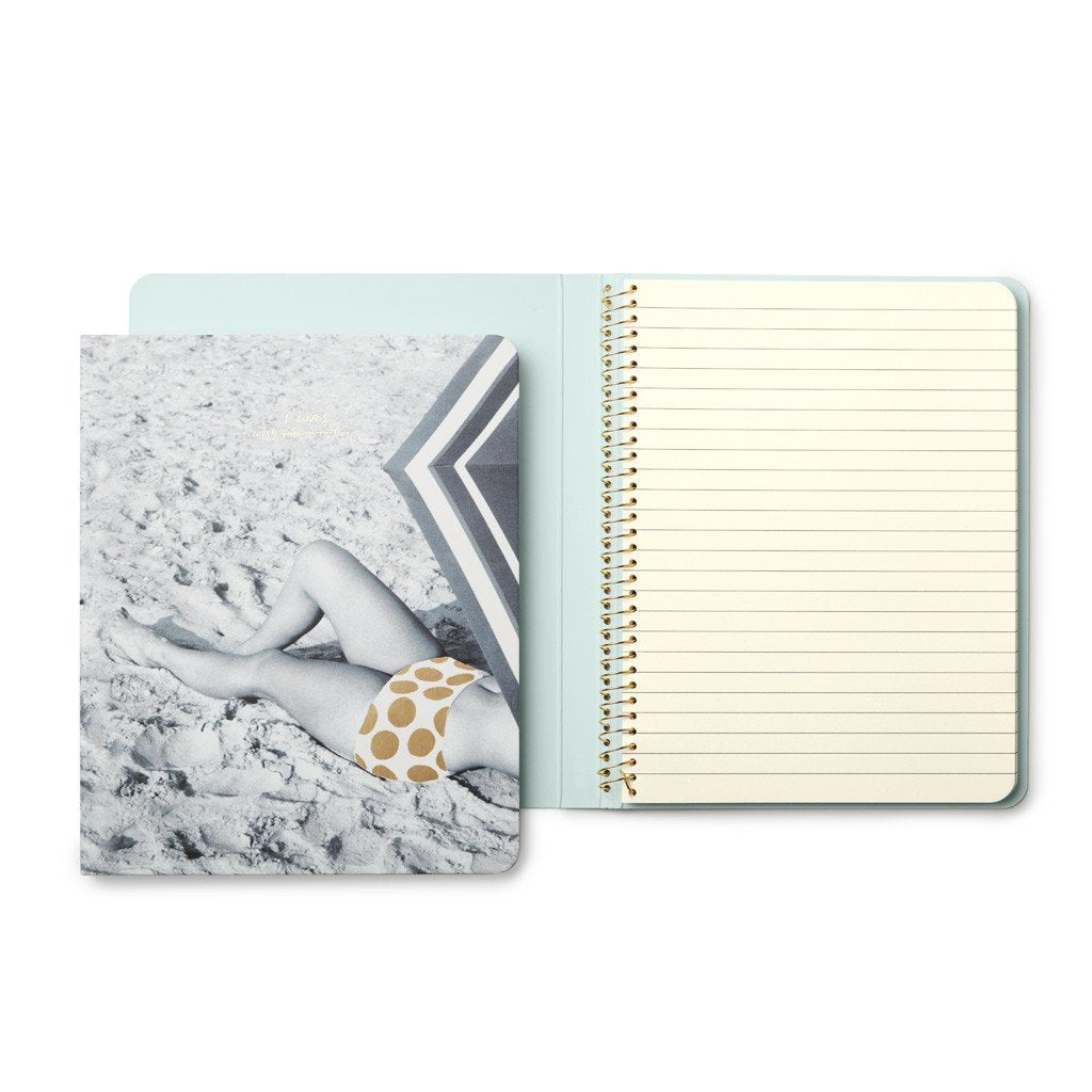 kate spade new york concealed spiral notebook, wish I was here