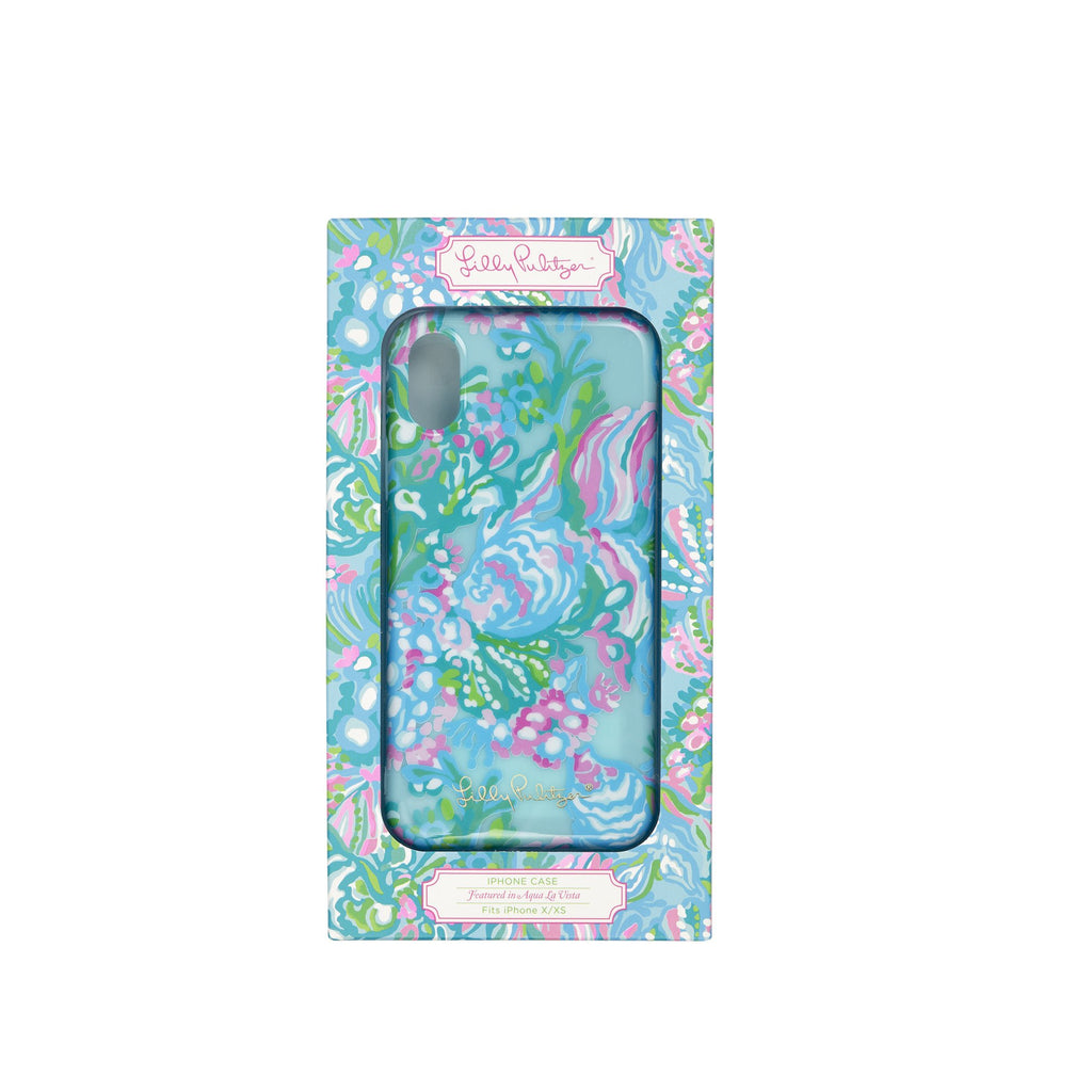 Lilly Pullitzer Iphone Case XS, Aqua La Vista