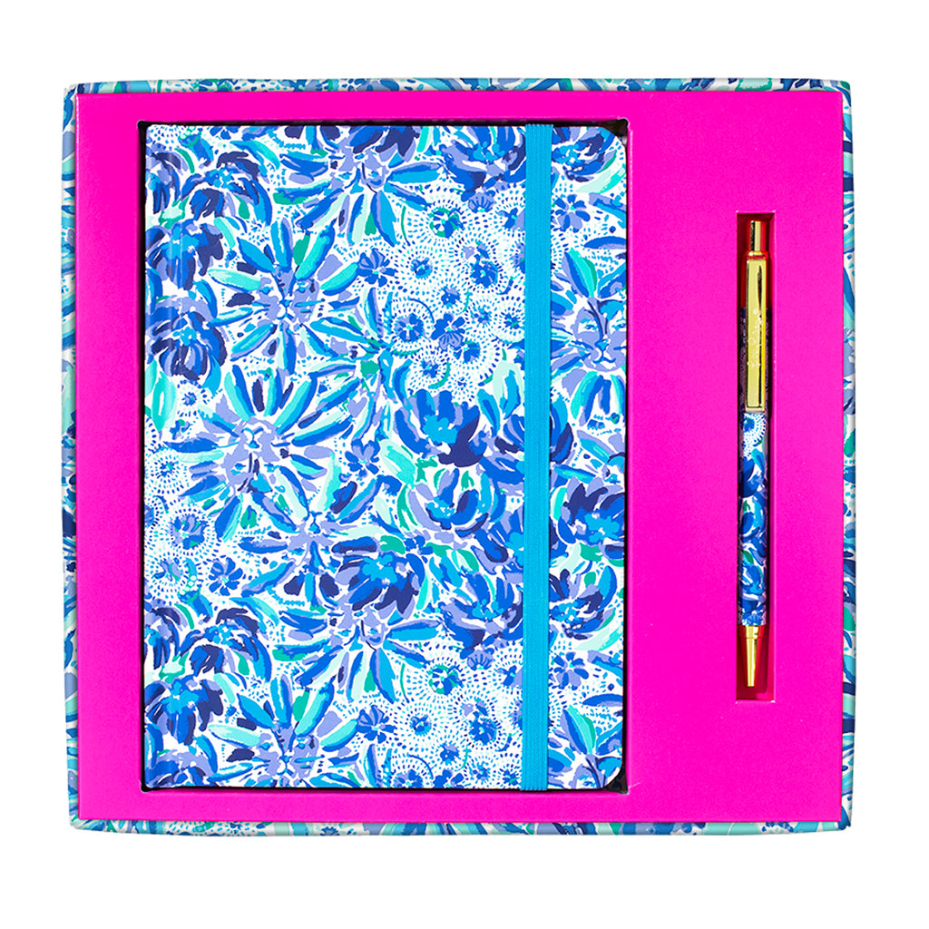 Lilly Pulitzer Boxed Journal with Pen, High Manetenance