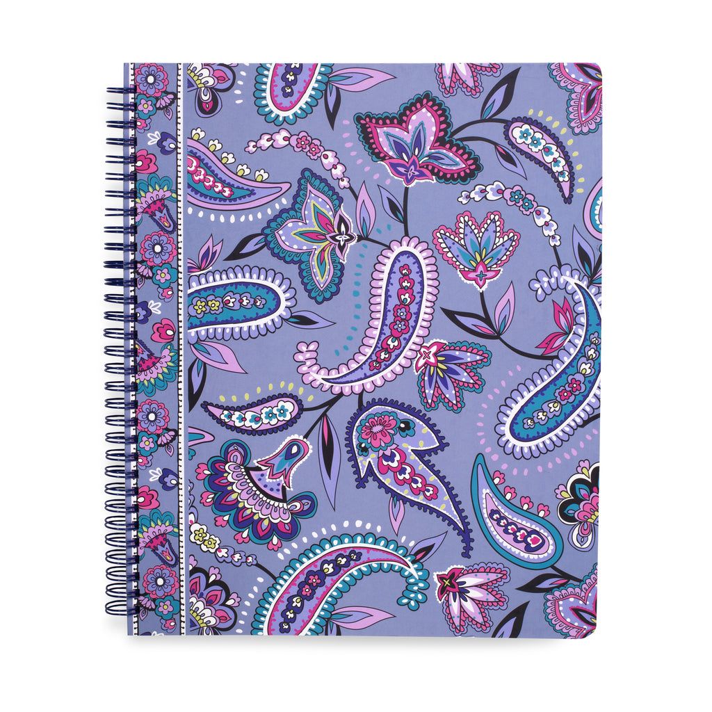 Vera Bradley Notebook With Pocket, Makani Paisley