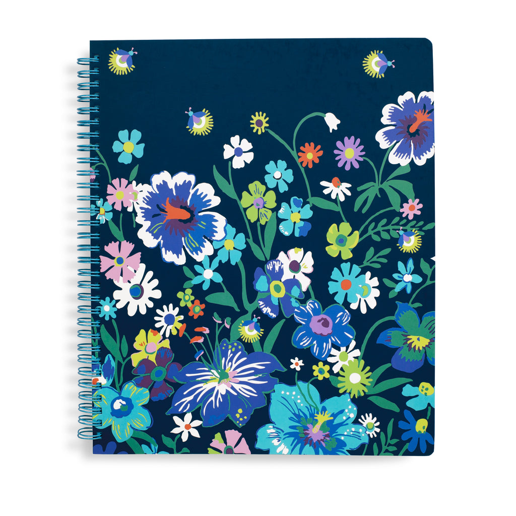 Vera Bradley Notebook With Pocket, Moonlight Garden