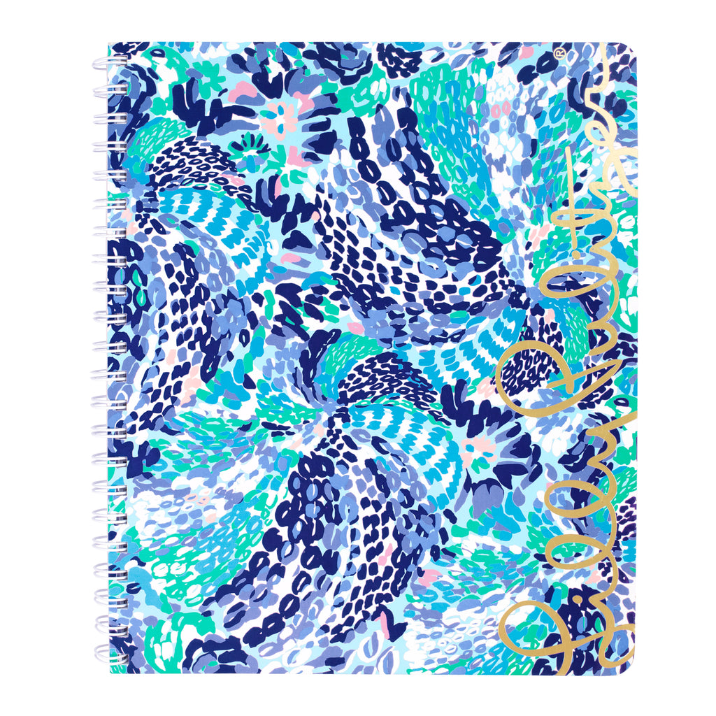 Lilly Pulitzer Large Notebook, Wave After Wave