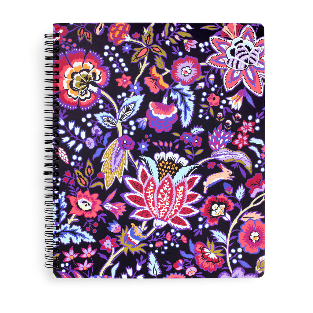 Vera Bradley Large Notebook With Pocket, Foxwood