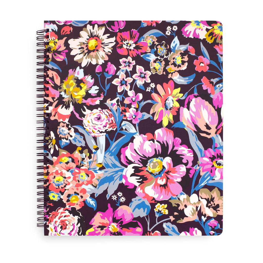 Vera Bradley Large Notebook With Pocket, indiana rose