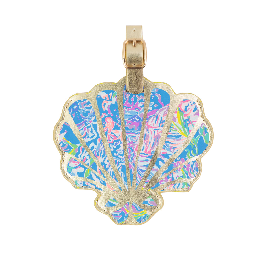 Lilly Pulitzer Luggage Tag, All Together Now, Shell Shape