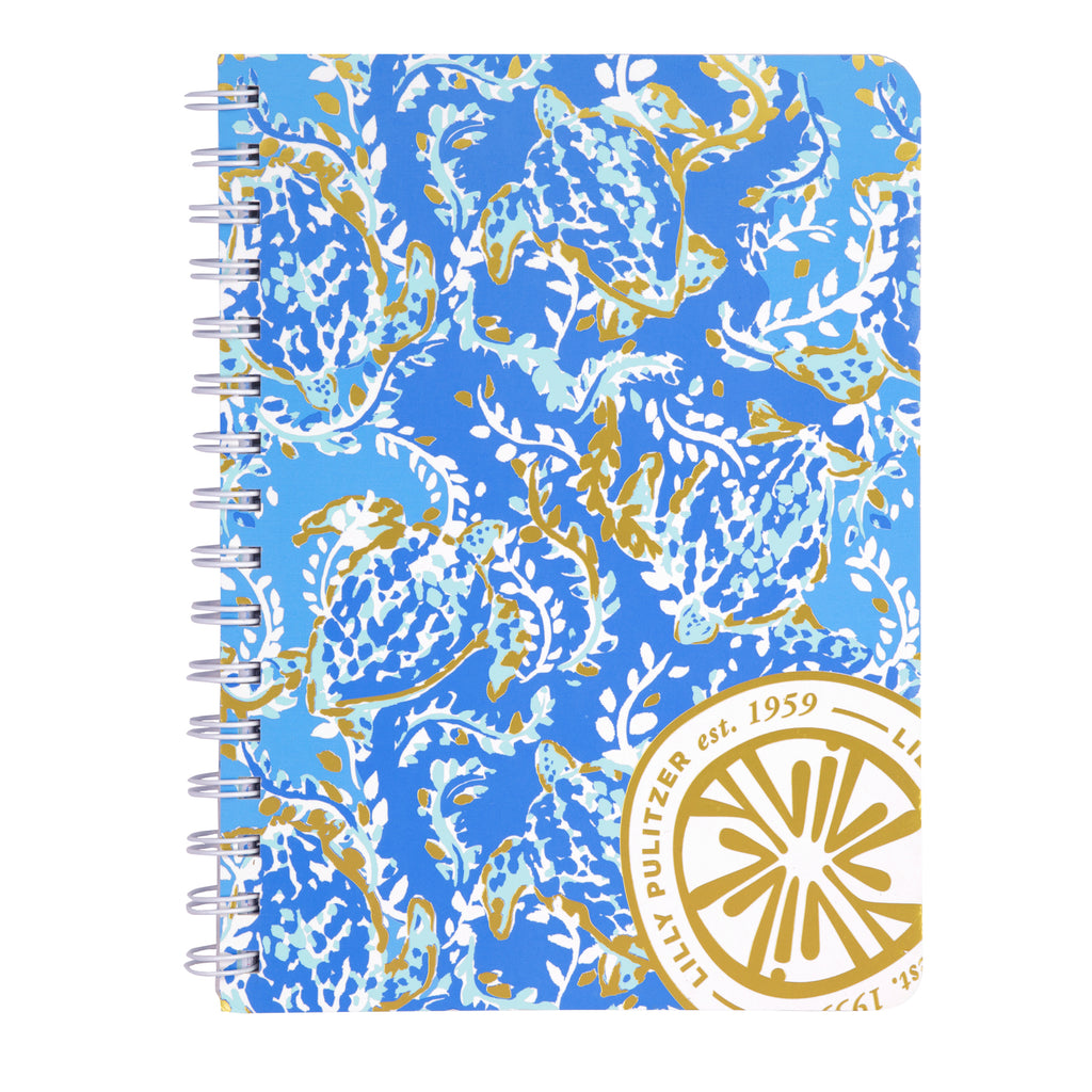 Lilly Pulitzer Mini Notebook, Turtley Awesome