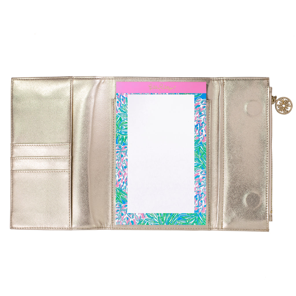 Lilly Pulitzer Notepad folio, gold