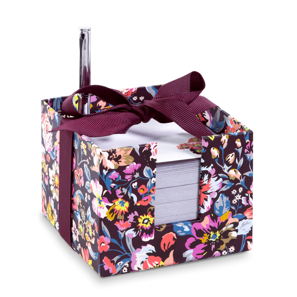 Vera Bradley notecube With Pen, indiana rose