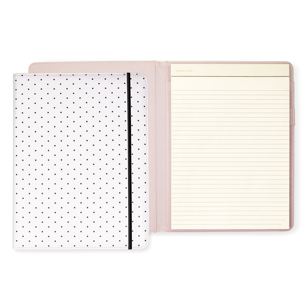 kate spade new york Notepad Folio, Bikini Dot (Black)