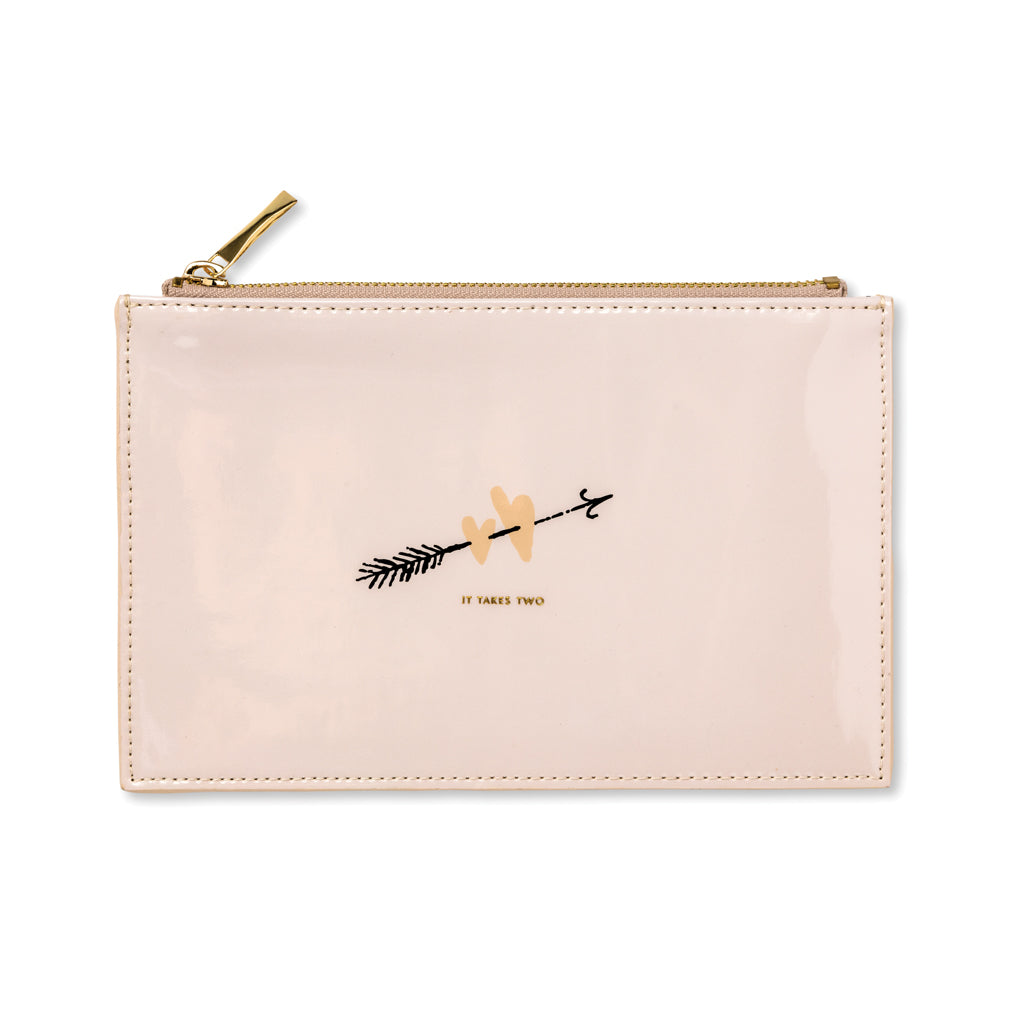 kate spade new york Bridal Pencil Pouch - Two Hearts