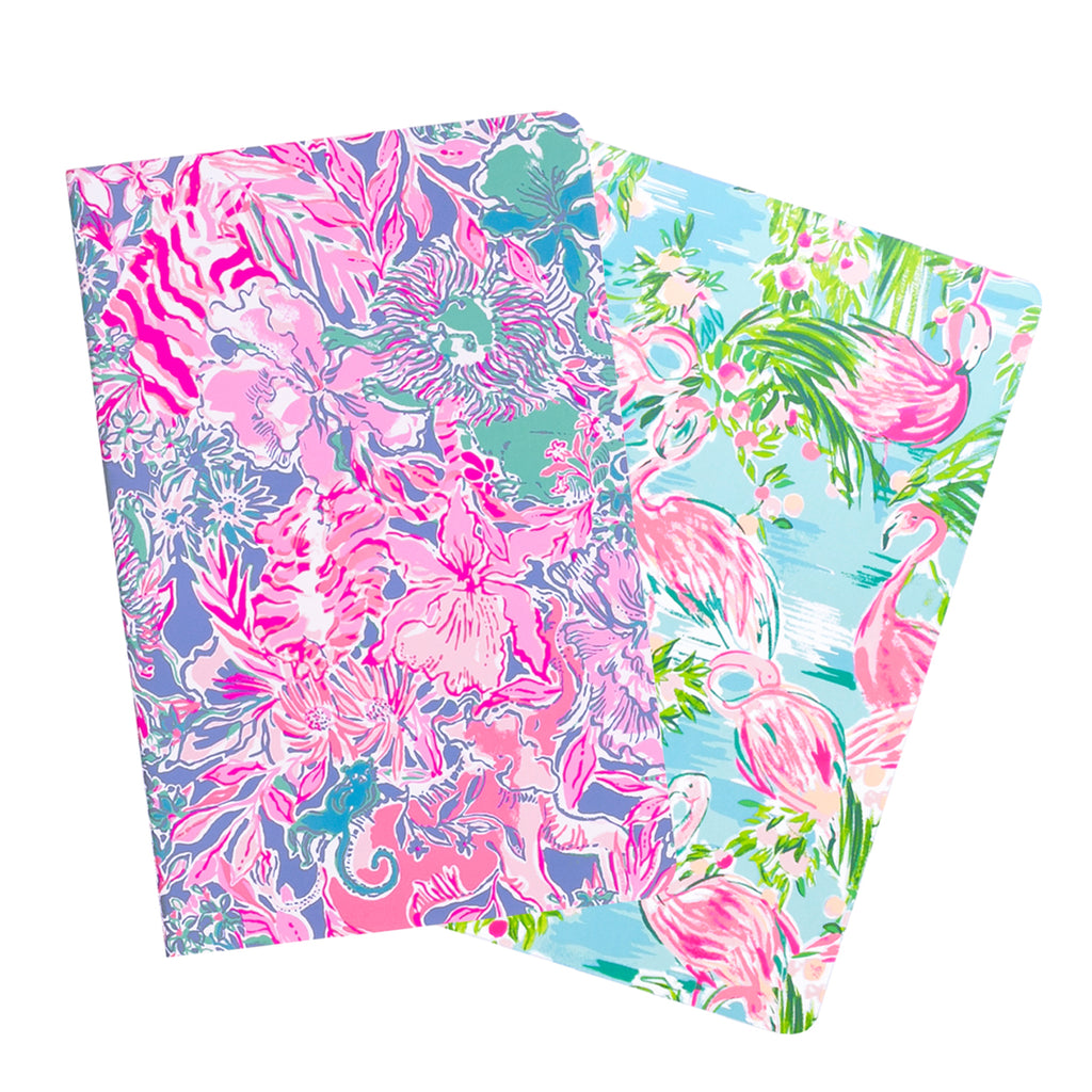 Lilly Pulitzer Pocket Notebook Set, Floridita/Viva La Lilly