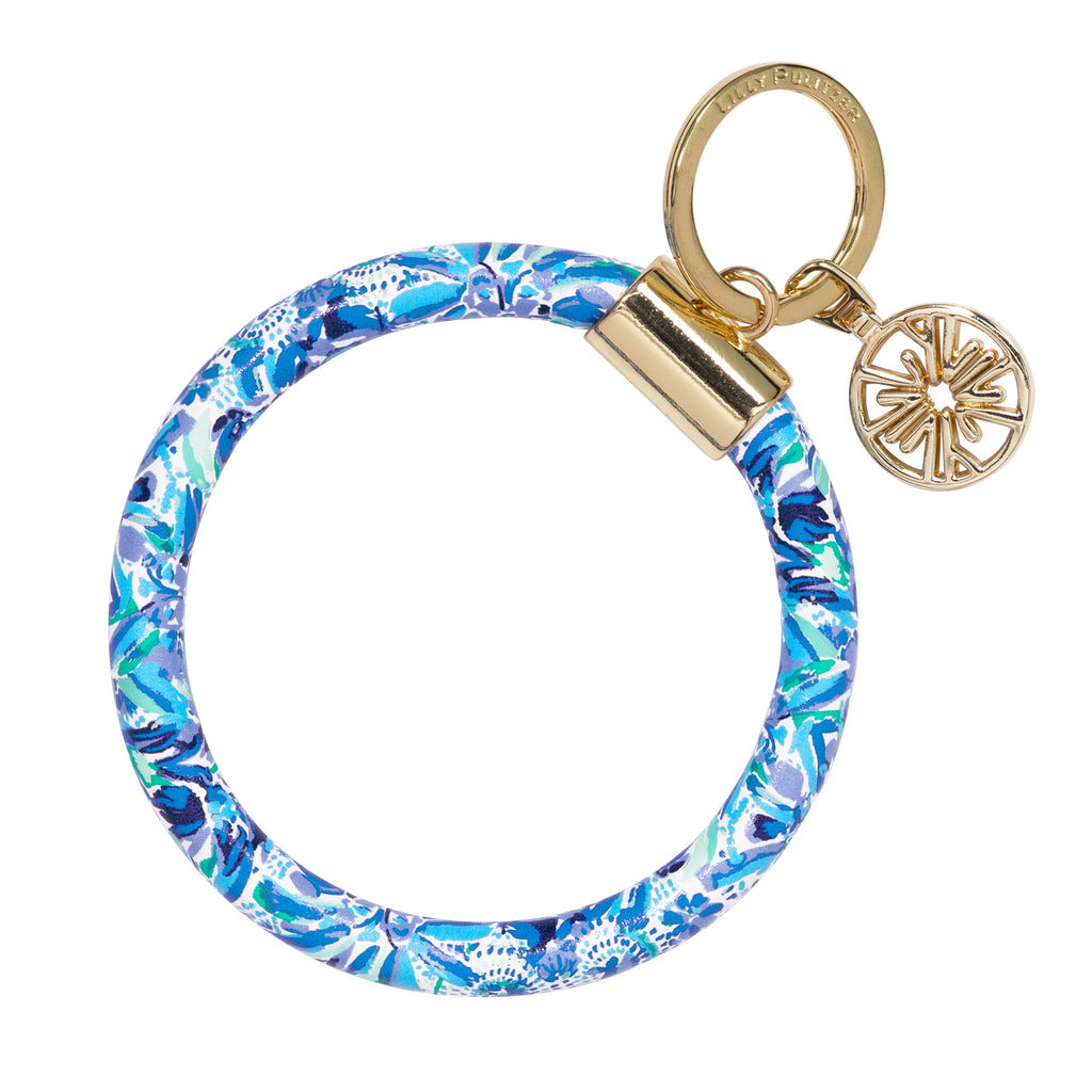 Lilly Pulitzer Round Keychain, High Manetenance